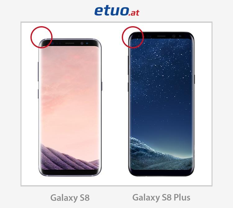 Samsung Galaxy S8 und Samsung Galaxy S8 Plus - Unterschiede