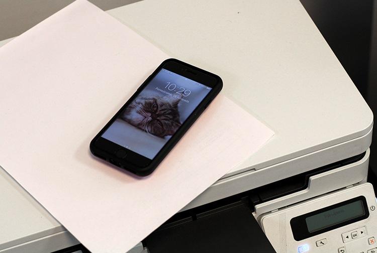 Smartphone und Drucker