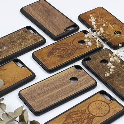 Holz Handytasche